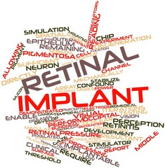 Word cloud for Retinal implant
