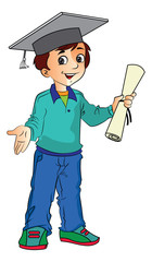Boy Graduate, illustration