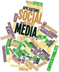 Word cloud for Social media
