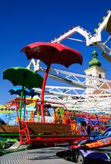 red carousel seat