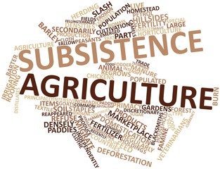 Word cloud for Subsistence agriculture