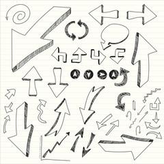hand draw arrows
