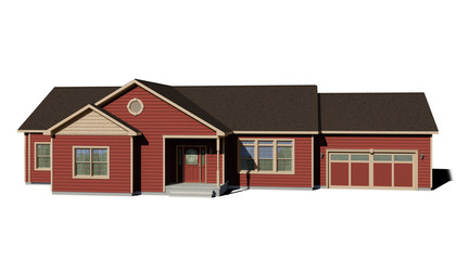 Ranch House - Red