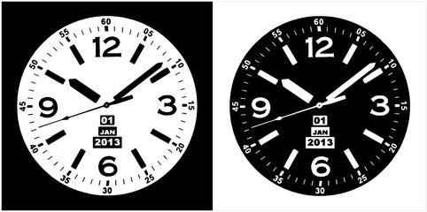 Clock Watch Vector 10