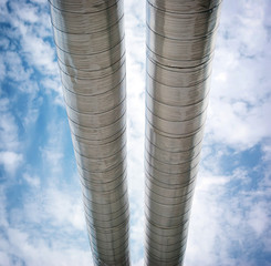 Pipes to sky