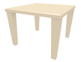 3d Render of a Dining Room Table