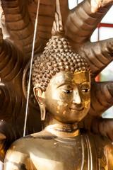 Buddhal statue wat Muonngerngong chiangmai Thailand