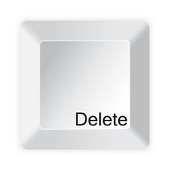 White computer key delete button