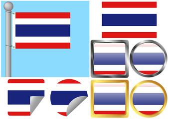 Flag Set Thailand
