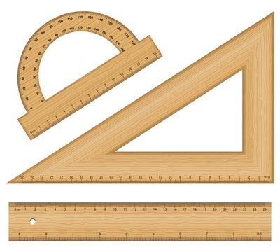 wooden ruler instruments