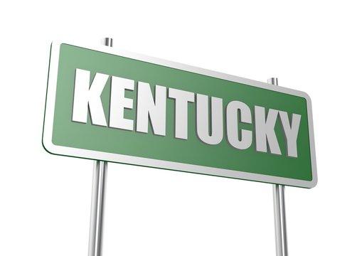 Kentucky sign board