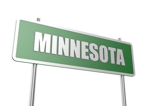 Minnesota sign board