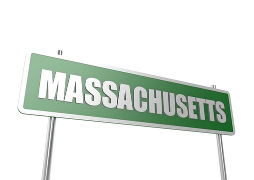 Massachusetts sign board