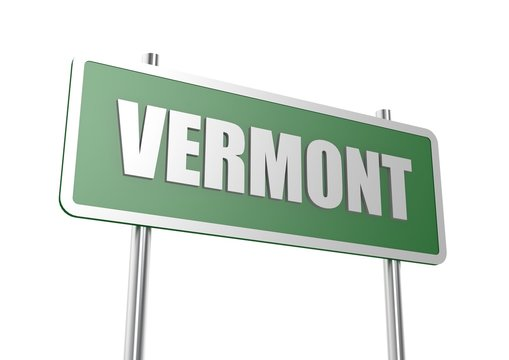 Vermont sign board