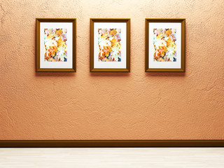 three nice pictures on the wall