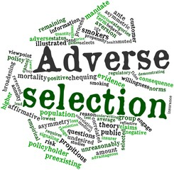 Word cloud for Adverse selection