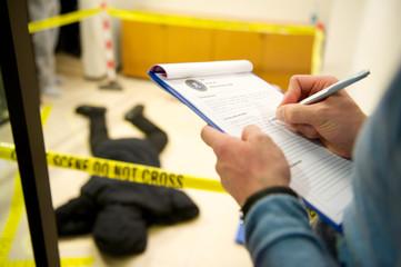 crime scene - fototapety na wymiar