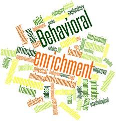 Word cloud for Behavioral enrichment