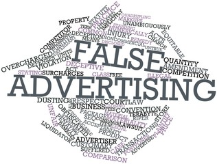 Word cloud for False advertising