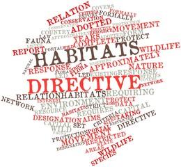 Word cloud for Habitats Directive