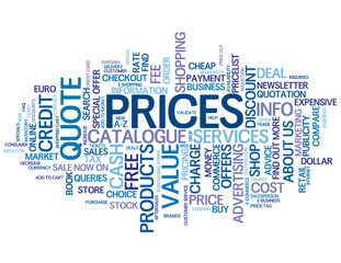 """PRICES"" Tag Cloud (quote info contact products services button)"