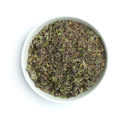 Dried thyme in a bowl