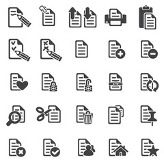 set of files icons silhouette