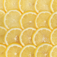 Tuinposter Plakjes fruit Zitronenscheiben