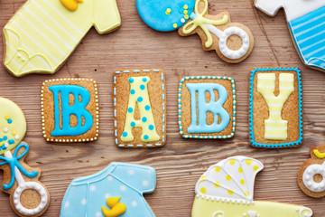 Wall Mural - Baby shower cookies