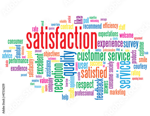 Quot Quot Satisfaction Quot Tag Cloud Customer Service Quality