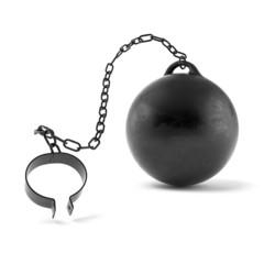 Open prisoner shackle