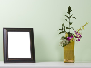 photo frame on the table
