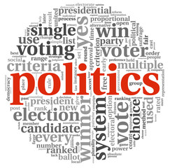 Plitics and vote concept