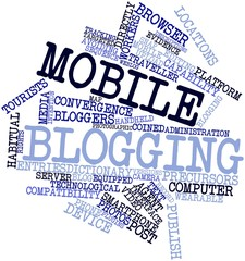 Word cloud for Mobile blogging