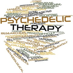 Word cloud for Psychedelic therapy