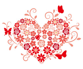 Spring-flower heart
