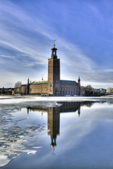 Stockholm City hall in winter.