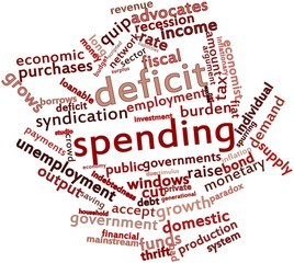 Word cloud for Deficit spending