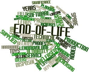 Word cloud for End-of-life