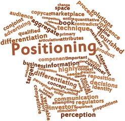 Word cloud for Positioning