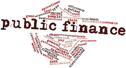 Word cloud for Public finance