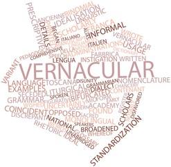 Word cloud for Vernacular