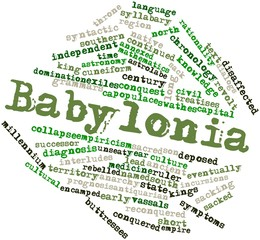 Word cloud for Babylonia