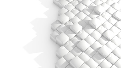 white cubes abstract illustration