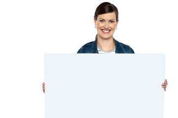 Make use of this blank ad board