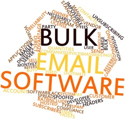 Word cloud for Bulk email software