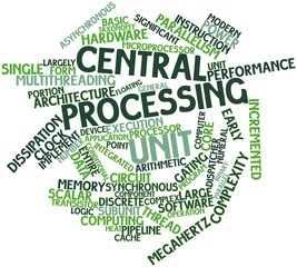 Word cloud for Central processing unit