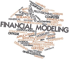 Word cloud for Financial modeling