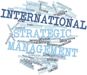 Word cloud for International strategic management