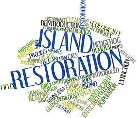 Word cloud for Island restoration